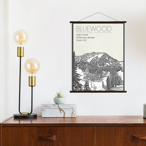 Bluewood Ski Resort Washington Print Canvas Print