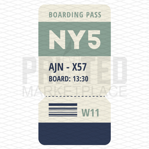 Boarding Pass Ticket Onesie® | Printed Marketplace
