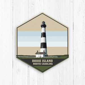 Bodie Island North Carolina Hexagon Illustration