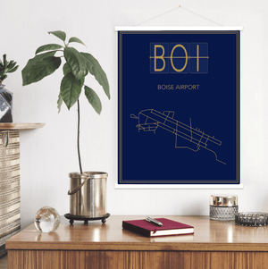 Boise Idaho Airport Map Print