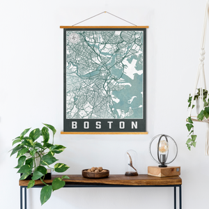 Boston Massachusetts Urban City Street Map