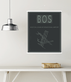 Boston Massachusetts Logan International Airport Map Print