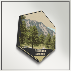 Boulder Colorado Hexagon Illustration Print