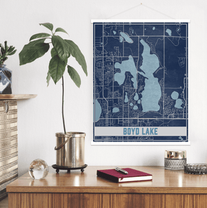 Boyd Lake Colorado Lake Map Print