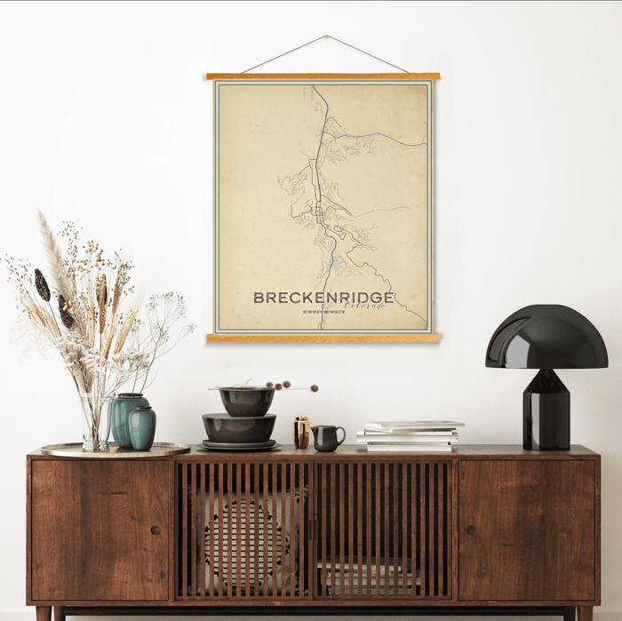 Breckenridge Colorado City Street Map Print