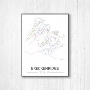 Breckenridge Colorado Ski Run Trail Map