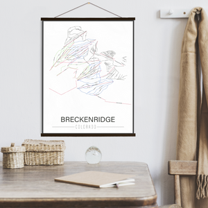 Breckenridge Colorado Ski Trail Map | Hanging Canvas of Breckenridge Ski Trail | Printed Marketplace
