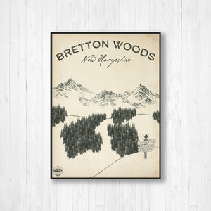 Bretton Woods Ski Resort Sketch Print