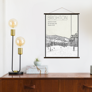 Brighton Ski Resort Hanging Canvas