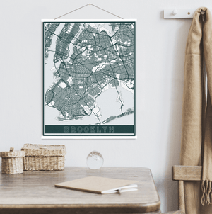 brooklyn new york hanging canvas