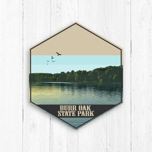 Burr Oak State Park Ohio Hexagon Illustration