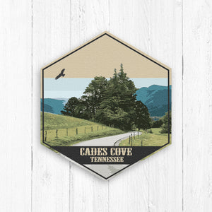 Cades Cove Tennessee Hexagon Canvas