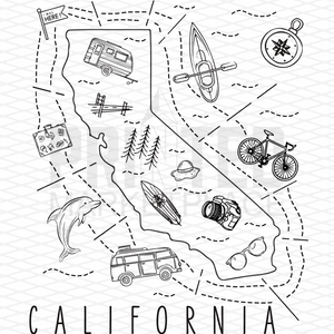 Illustrated California Shirt By Printed Marketplace