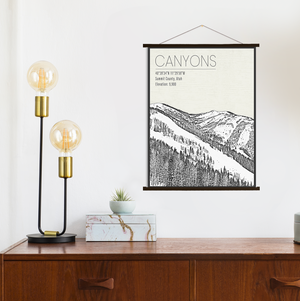 Canyons Ski Resort Hanging Canvas
