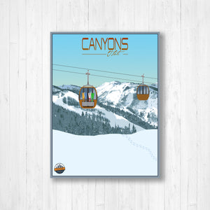 Canyons Utah Modern Illustration Print by Printed Marketplace