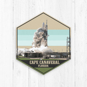 Cape Canaveral Hexagon Illustration Print