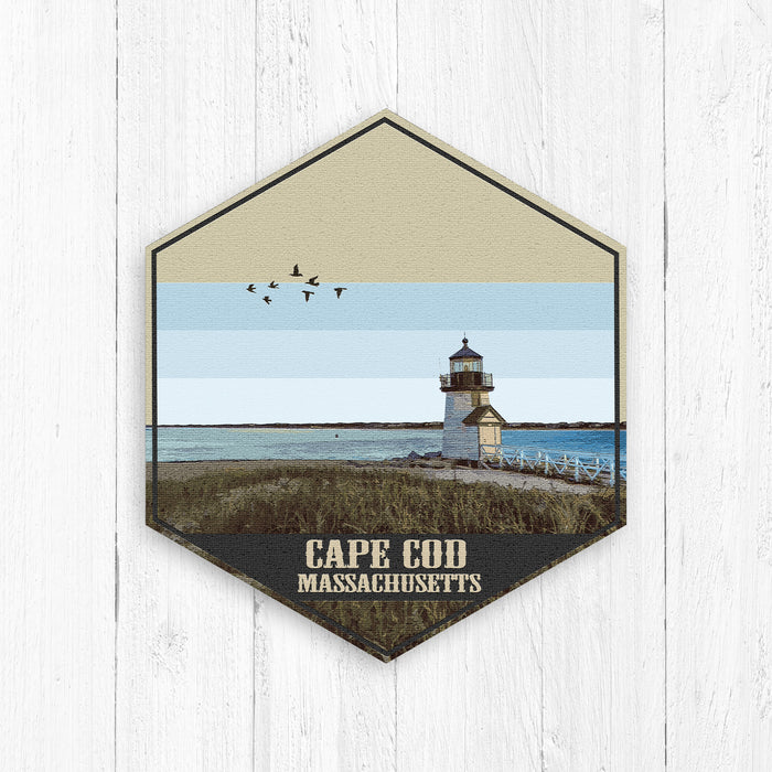 Cape Cod Massachusetts Hexagon Illustration Print
