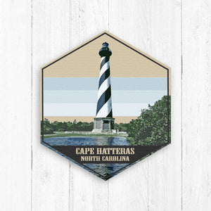 Cape Hatteras North Carolina Hexagon Illustration