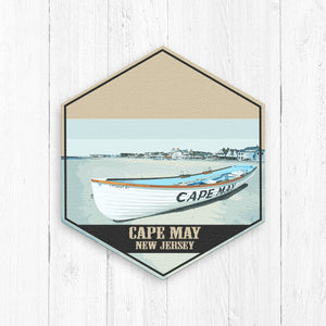 Cape May New Jersey Hexagon Illustration