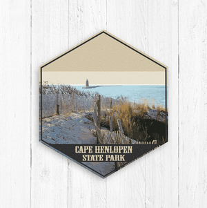 Cape Henlopen Hexagon Illustration Print