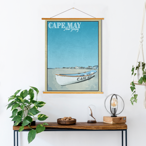 Cape May New Jersey Poster | Cape May Travel Illustration | Printed Marketplace