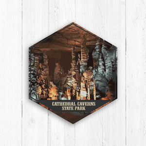 Cathedral Caverns Alabama Hexagon Illustration