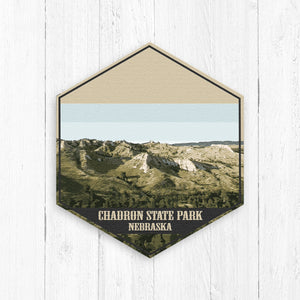 Chadron State Park Nebraska Hexagon Illustration by Printed Marketplace