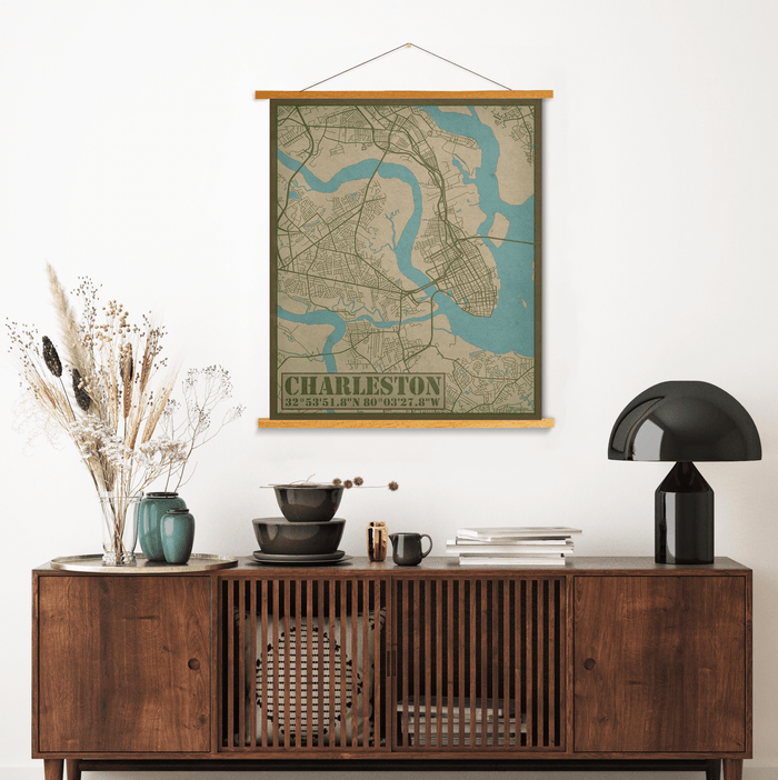 Charleston South Carolina City Street Map Print