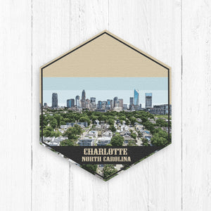 Charlotte North Carolina Hexagon Illustration