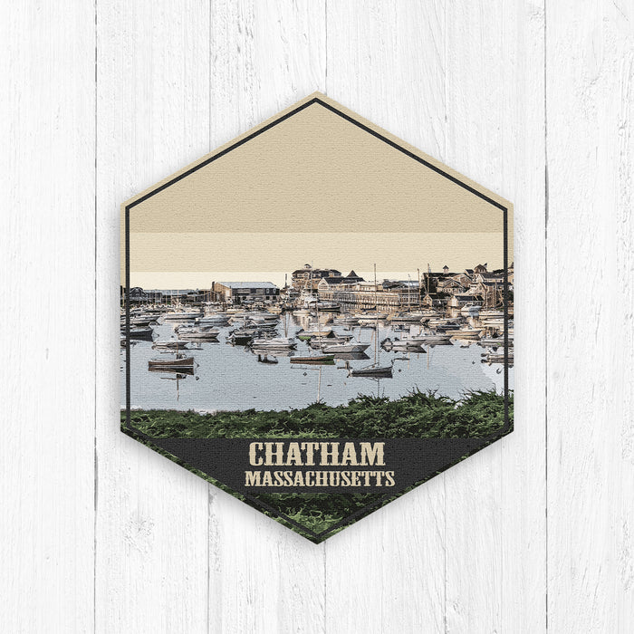 Chatham Massachusetts Hexagon Illustration Print by Printed Marketplace