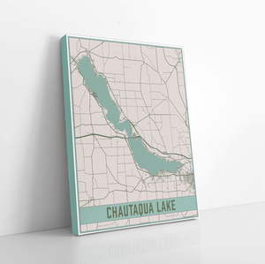 Chautaqua Lake New York Lake Map Print