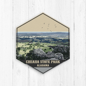 Cheaha State Park Alabama Hexagon Illustration Print