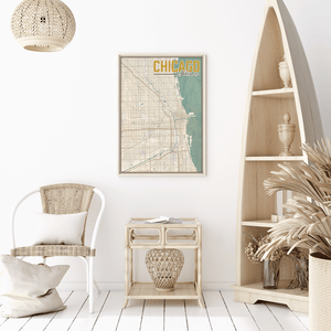 Chicago Illinois City Street Map Print