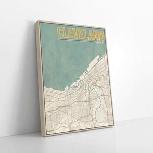 Cleveland Ohio City Street Map Print