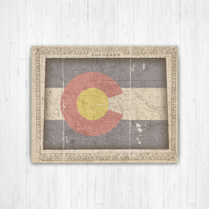 Colorado State Map Flag Conversion Print