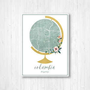 Columbia Minnesota Hanging Canvas