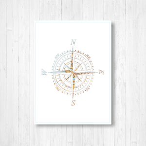 Pastel Compass Shape Map