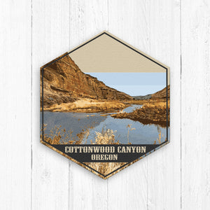 Cottonwood Canyons Oregon Hexagon Illustration Print