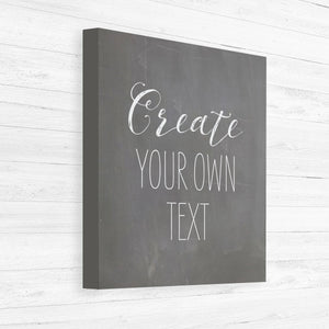 custom chalkboard canvas