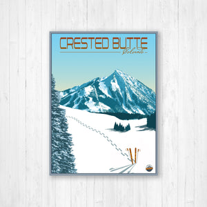 Crested Butte Colorado Modern Illustration Print by Printed Marketplace