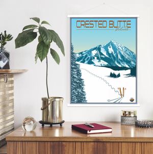 Crested Butte Colorado Ski Resort | Hanging Canvas of Crested Butte Ski Resort | Printed Marketplace