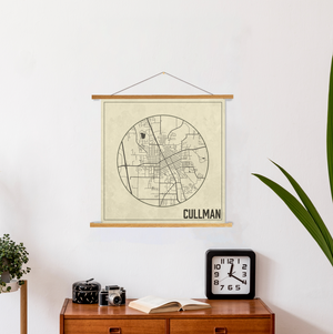 Cullman Alabama Square Map | Hanging Canvas Map of Cullman | Printed Marketplace