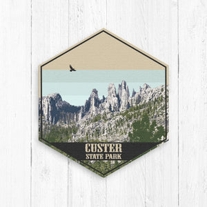 Custer State Park South Dakota Hexagon Canvas