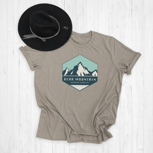 Custom Badge Ski Resort Graphic Tee Shirt or Hoodie | Ski Apparel