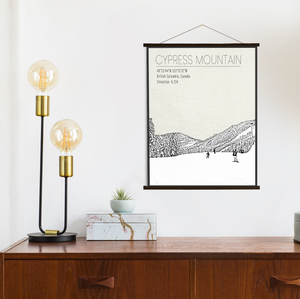 Cypress Mountain Ski Area Hanging Canvas by Printed Marketplace