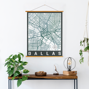 Dallas Texas Urban City Street Map