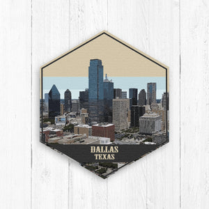 Dallas Texas Hexagon Illustration by Printed Marketplace