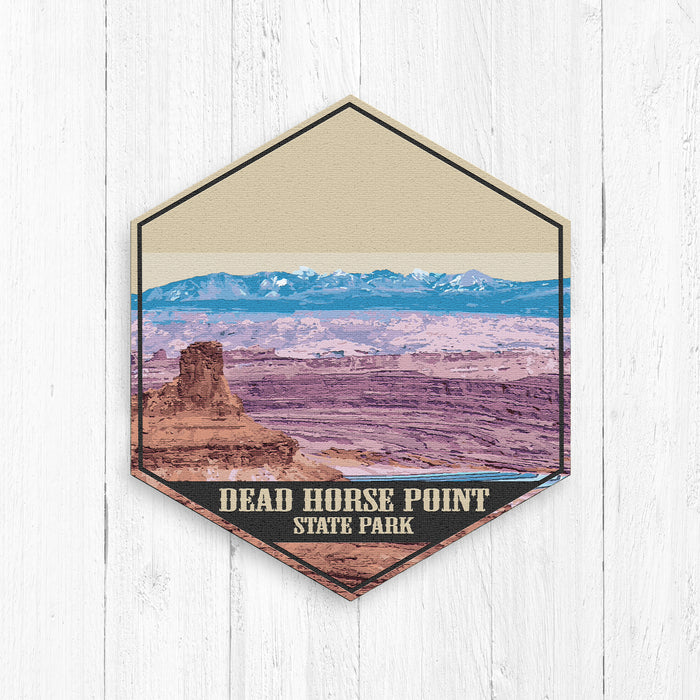Dead Horse Point State Park Utah Hexagon Illustration