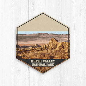 Death Valley National Park Hexagon Illustration