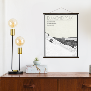 Diamond Peak Ski Area Hanging Canvas by Printed Marketplace